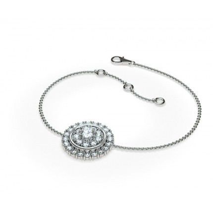 0.50ct. Prong Setting Round Diamond Delicate Bracelet