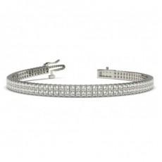 Platinum Multi Row Tennis Bracelets