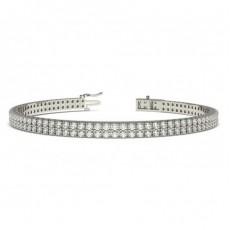 Round Multi Row Tennis Bracelets