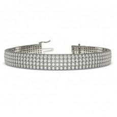 9K White Gold Bracelets