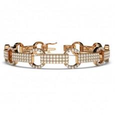 Round Designer Diamond Bracelet