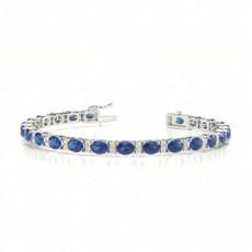 Platinum Gemstone Bracelets