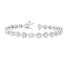 18K White Gold Bracelets