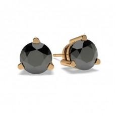 9K Rose Gold Diamond Earrings