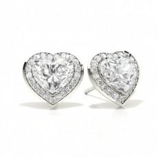 Heart Diamond Earrings