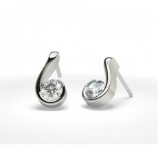 Round Stud Earrings