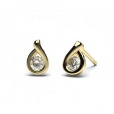 9K Yellow Gold Diamond Earrings