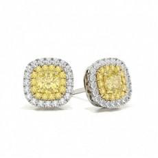 Cushion Diamond Earrings