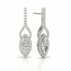 Marquise Diamond Earrings