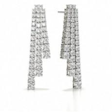 Round Designer Diamond Earrings