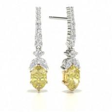 Yellow Diamond Drop Designer Earring