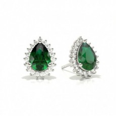 Pear Halo Earrings