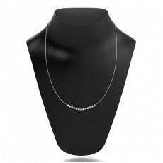 Platinum Tennis Necklace Pendants