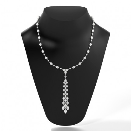 Prong Setting Tennis Necklace