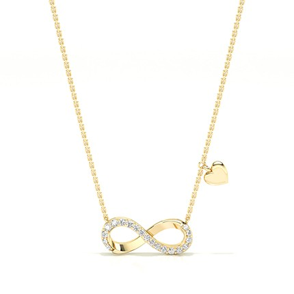 Plate Prong Setting Diamond Delicate Necklace