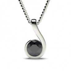 Platinum Black Diamond Pendants