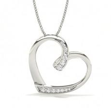Platinum Heart Pendants