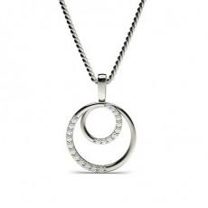 015ct Prong Setting Round Diamond Delicate Pendant