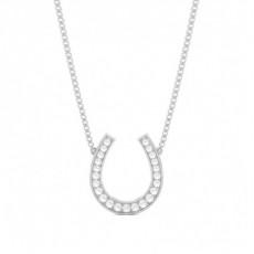 Platinum Delicate Diamond Pendants