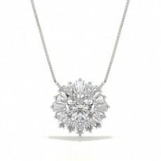 Diamond Circle Prong Studded Pendant