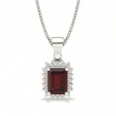Platinum Gemstone Pendants