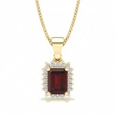 Prong Setting Ruby Pendent