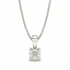 Round Solitaire Necklaces