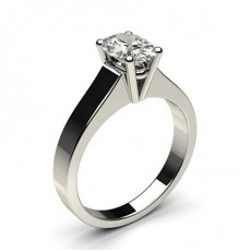 Oval Solitaire Diamond Rings
