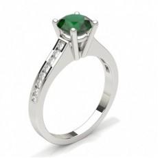 Round Gemstone Rings