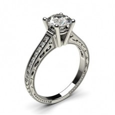 Round Vintage Engagement Rings