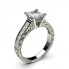 Princess Vintage Engagement Rings