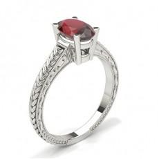 Oval Gemstone Engagement Rings