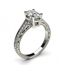 Oval Side Stone Diamond Rings
