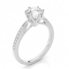 Platinum Side Stone Diamond Rings