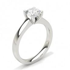 Platinum Cluster Engagement Rings