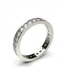 Round Full Eternity Diamond Rings
