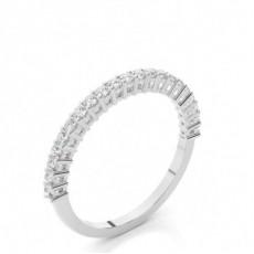 Round Half Eternity Diamond Rings