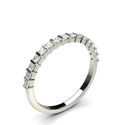 Bar Setting Half Eternity Diamond Ring