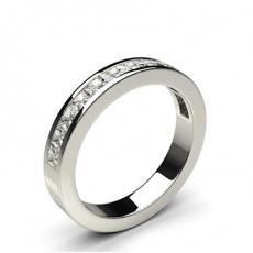 Platinum Half Eternity Diamond Rings