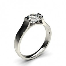 Round Solitaire Diamond Rings