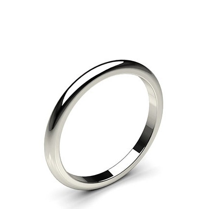 High Dome Standard Fit Wedding Band