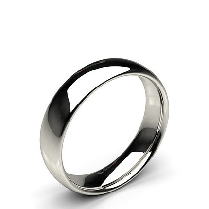 Court Profile Comfort Fit Wedding Band