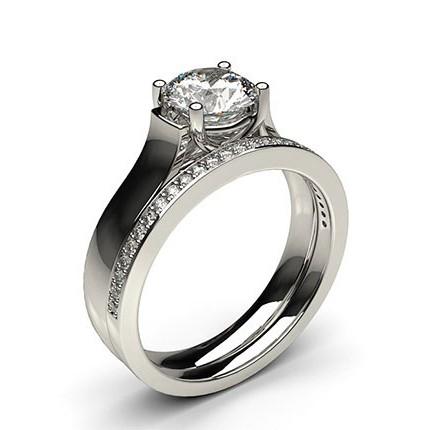 White Gold Bridal Set Diamond Engagement Ring