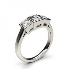 Princess Trilogy Engagement Rings