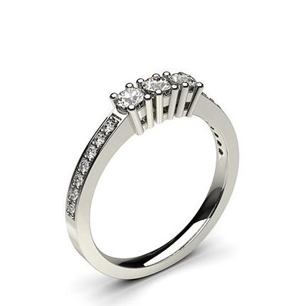 White Gold Trilogy Diamond Engagement Ring