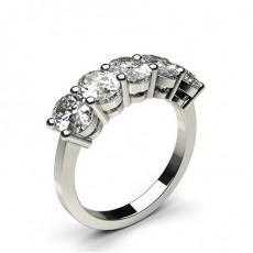 Oval 5 Stone Diamond Rings