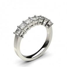 Seven Stone Diamond Rings Platinum