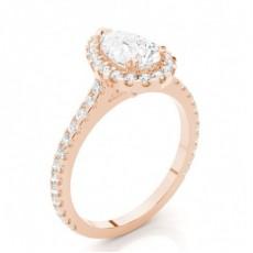 18K Rose Gold Diamond Rings