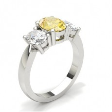 Oval Yellow Diamond Rings