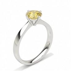 Round Yellow Diamond Engagement Rings